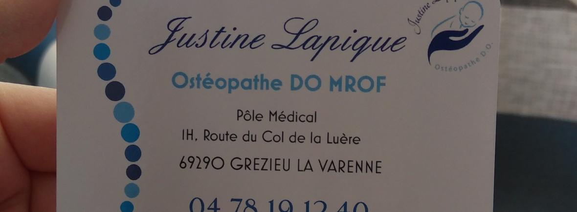 justine lapique osteopathe grezieu la varenne osteopathie lombalgie sciatique nourisson femmes enceintes arthrose fertilité enfants constipation lumbago senior sport